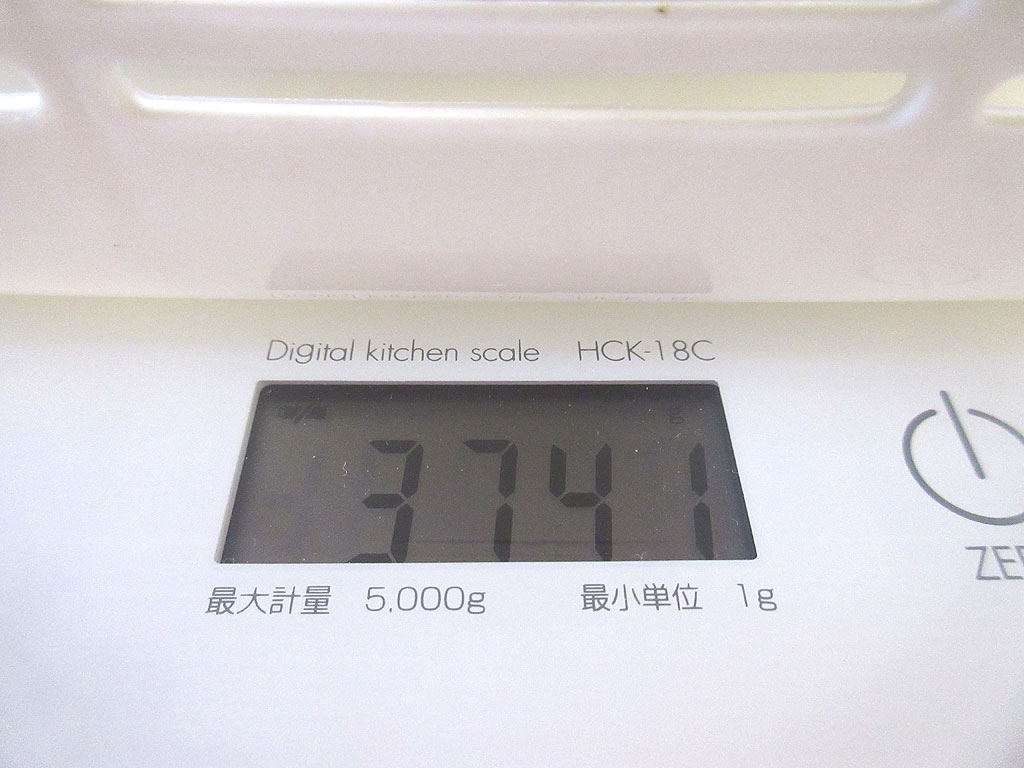 ロシ子の体重は3,741g。