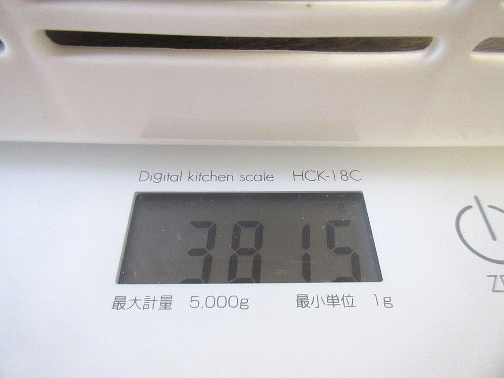 4/11のロシ子の体重は3、815g。