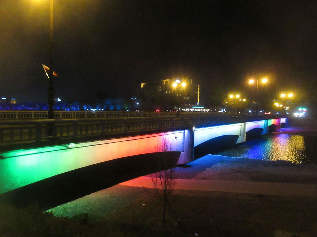 前日の晩の慶州の夜景。