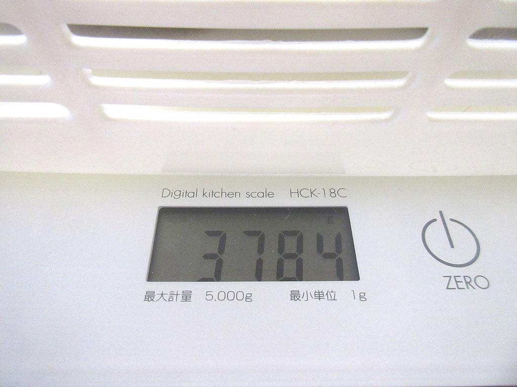 ロシ子の体重は3、784g。