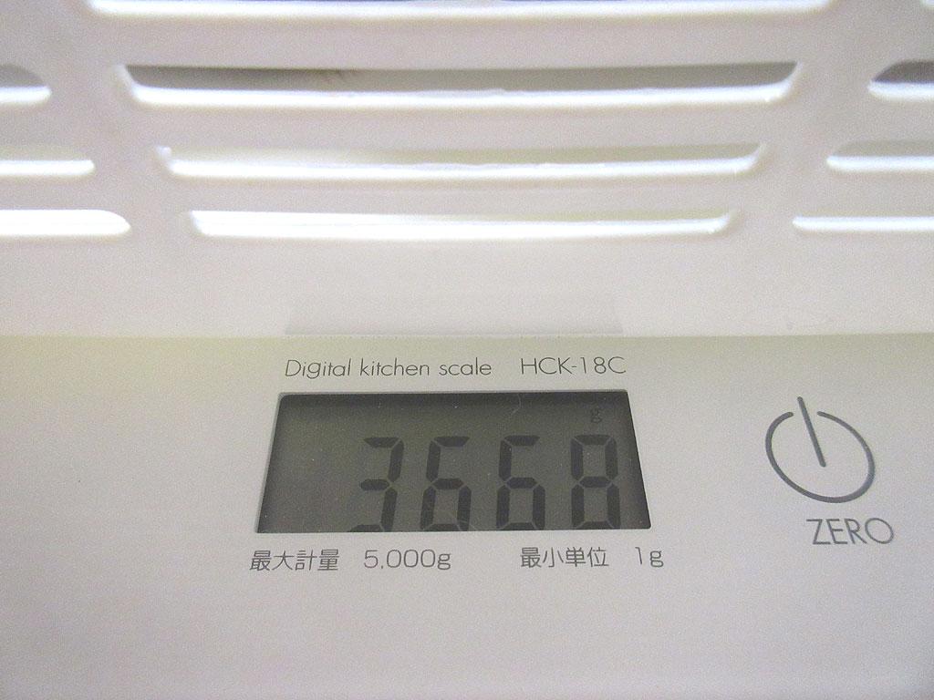 ロシ子の体重は3,668g。