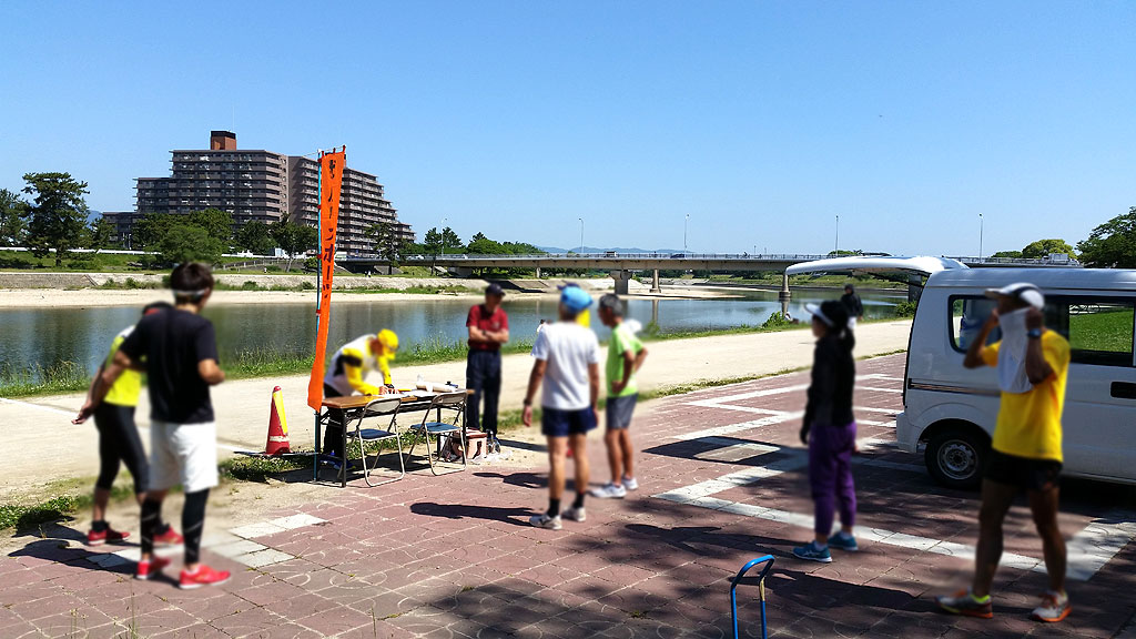 武庫川の練習会。