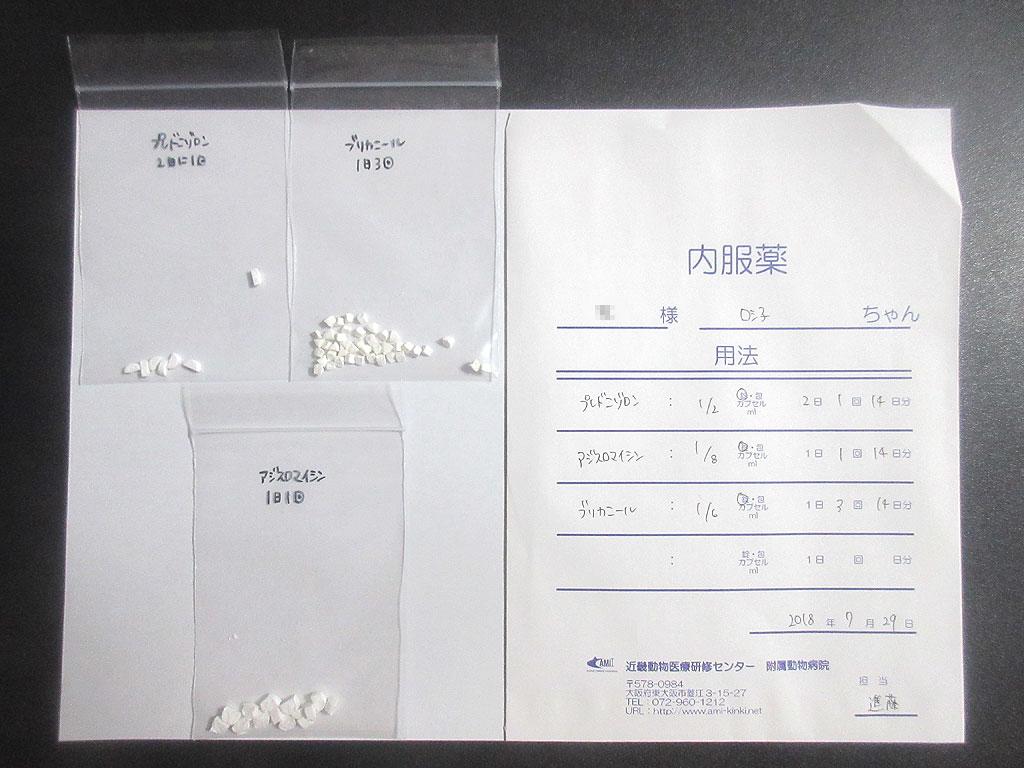 ロシ子の薬は3種類。