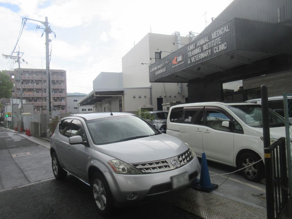 混雑していた駐車場。