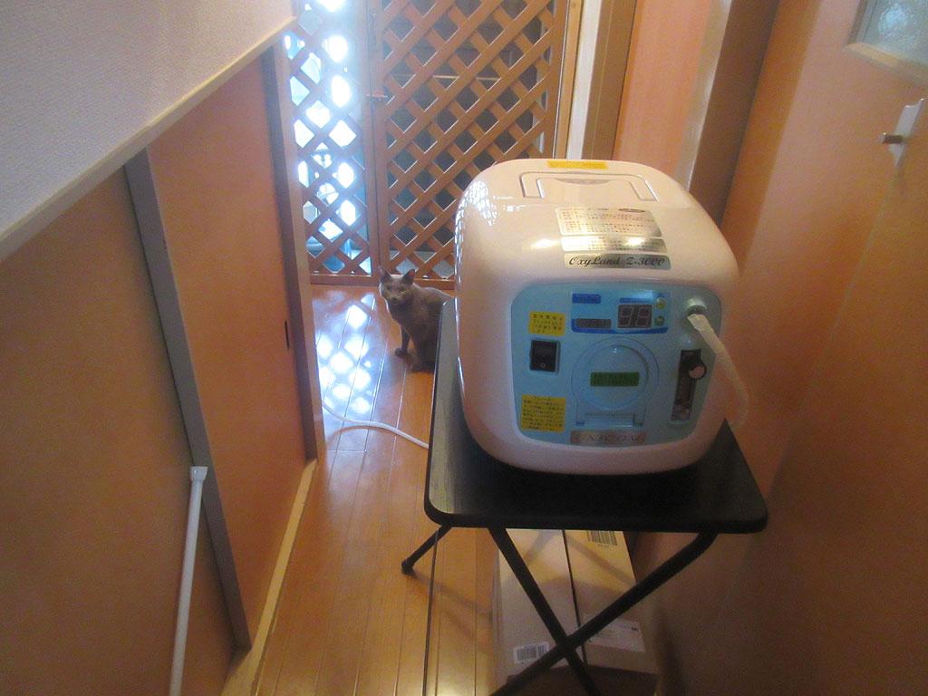 酸素濃縮器本体の場所。