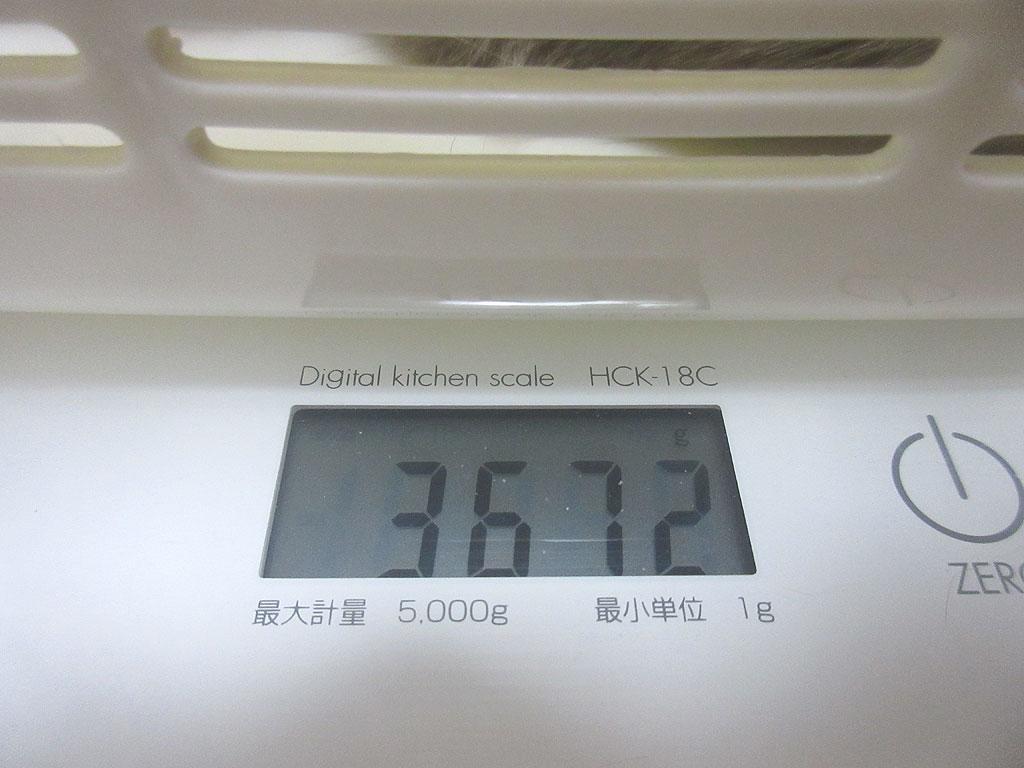 ロシ子の体重は3,672g。