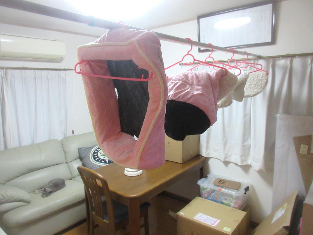 洗濯機を回しました。