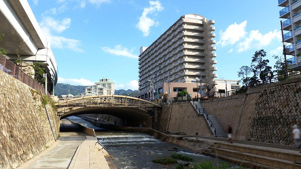 氾濫はしてなかった住吉川。