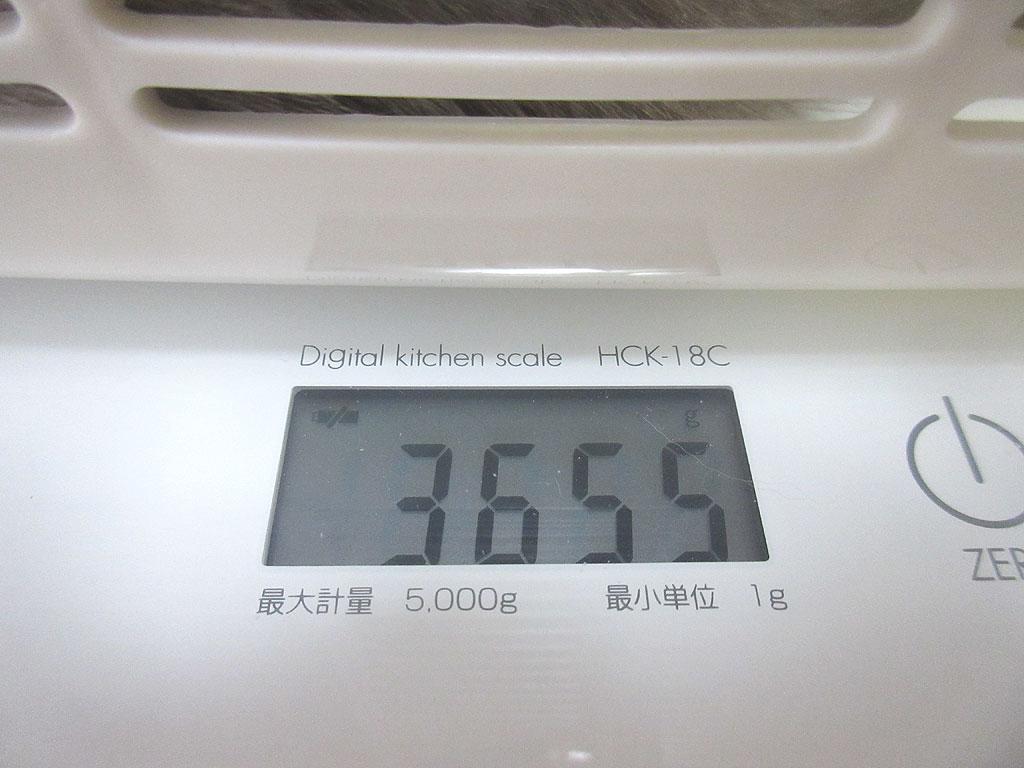 ロシ子の体重は、3,655g、