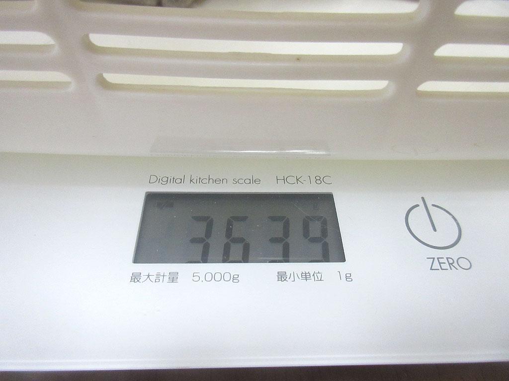 ロシ子の体重は3,639g。