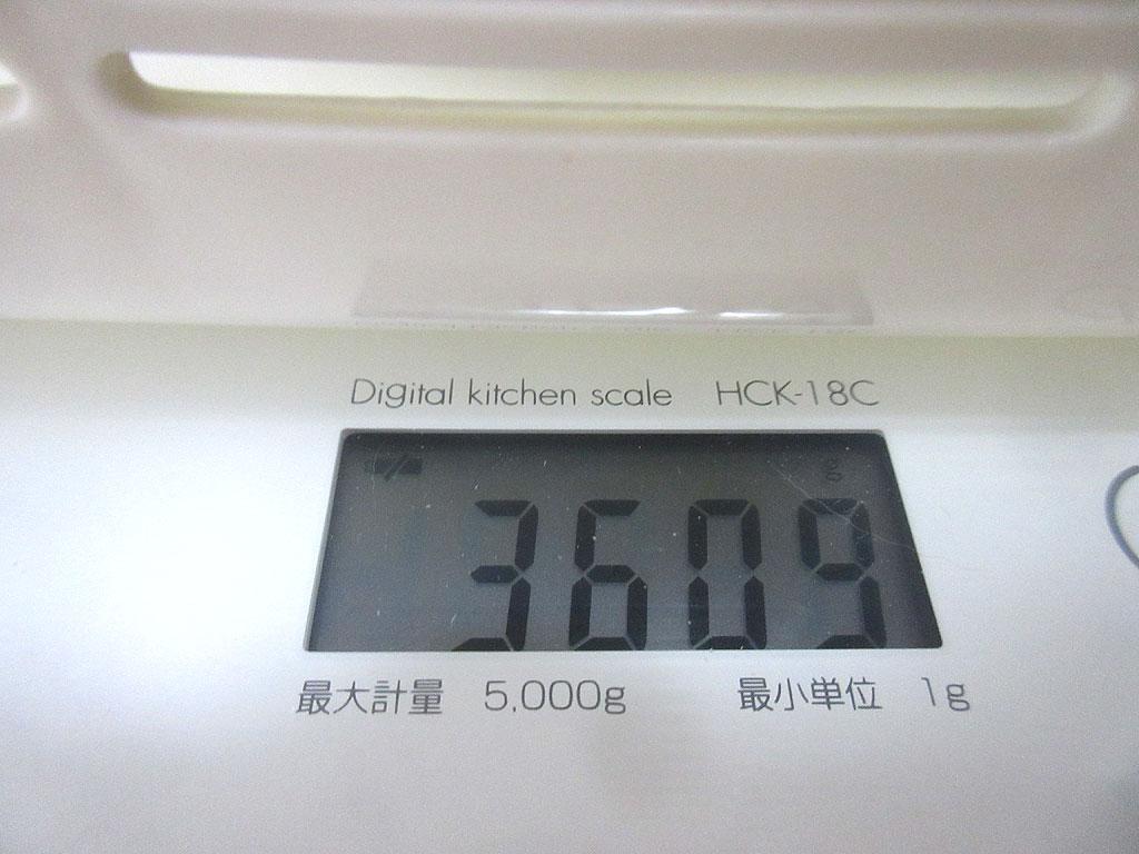 ロシ子の体重は3,609g。