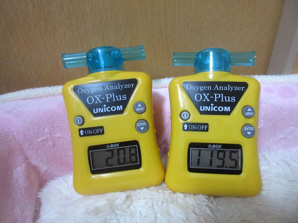 酸素濃度計のコラボレーション。