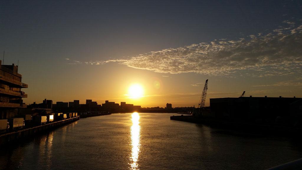朝陽が良い感じ。