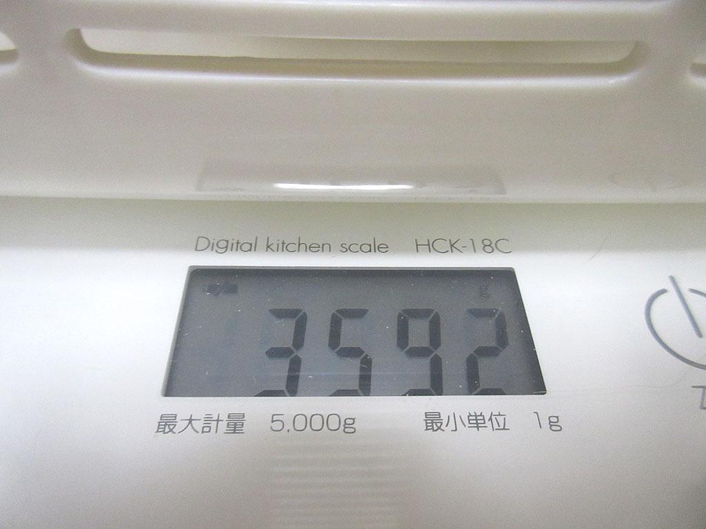 ロシ子の体重は3,592g。