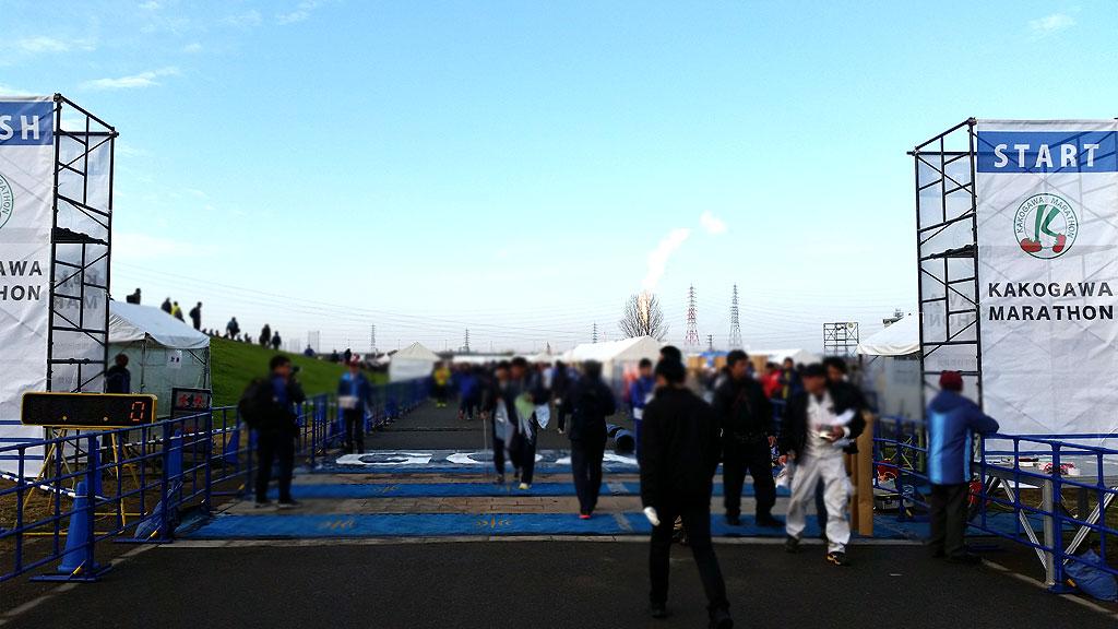 加古川マラソンのゴール地点。