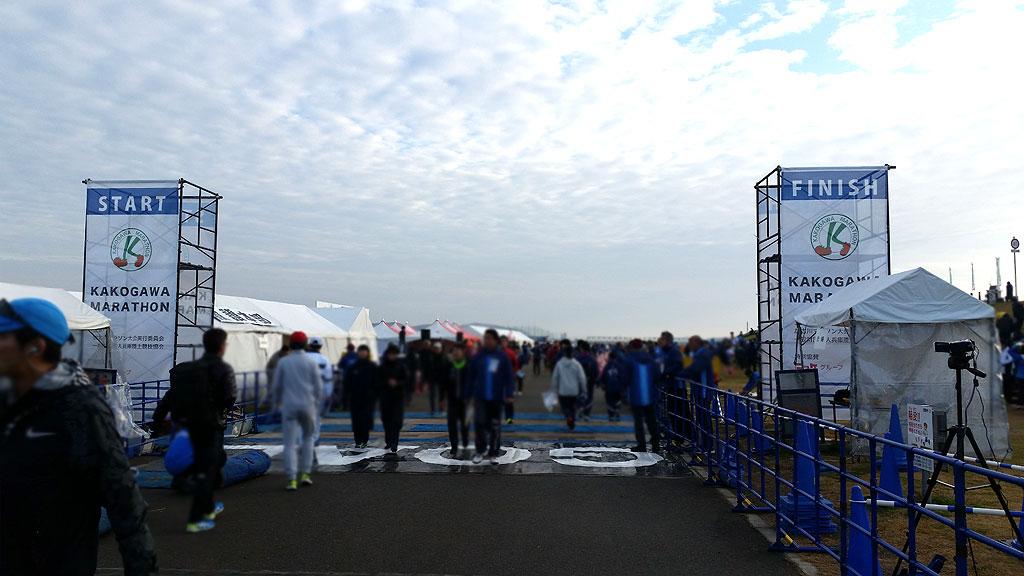 加古川マラソンのスタート地点。