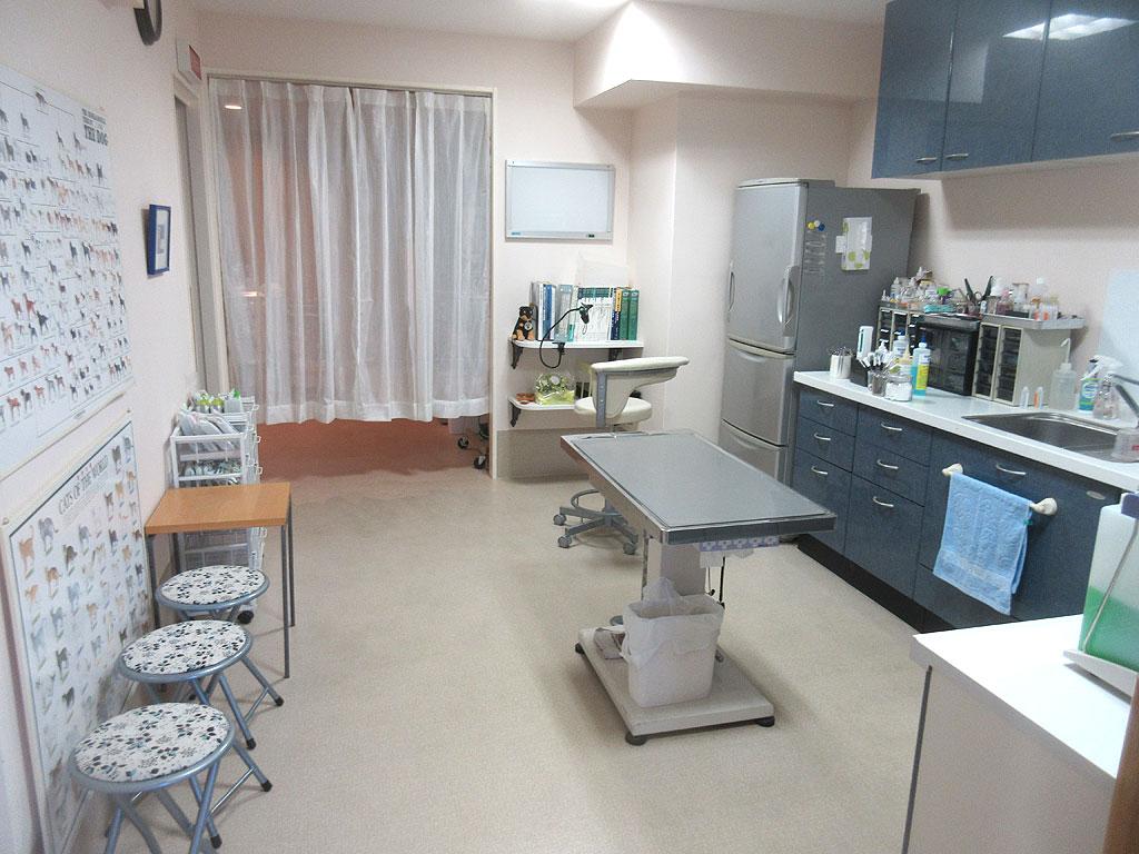 清潔感のある診察室。