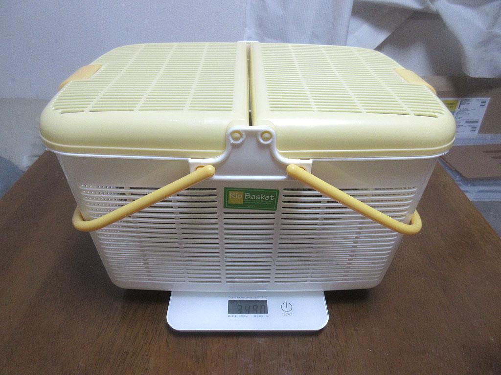 今週のロシ子の体重測定。