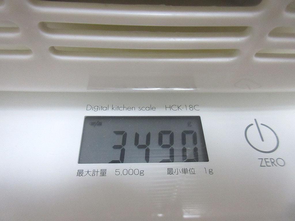 ロシ子の体重は3,490g。