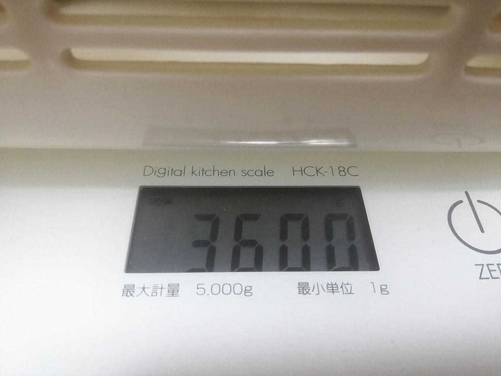 ロシ子の体重は3,600g。